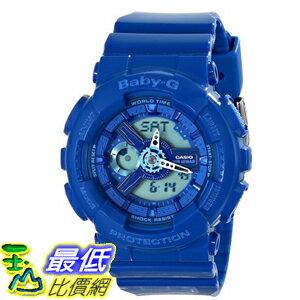 [104美國直購] Casio 藍色 女士手錶 BA110BC-2ACR Baby G Analog-Digital Display Quartz