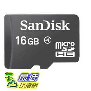 [104美國直購] 免運費 SanDisk B007KFXIDO 16GB 儲存卡 Class 4 Micro SDHC Memory $409