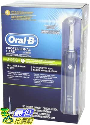 [103 美國直購 ShopUSA] Oral-B 電動牙刷 Professional Healthy Clean + Gum Care Precision 3000 Rechargeable Ele..