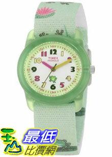 [美國直購 ShopUSA] Timex 手錶 Children's Kids T7B705 Green Cloth Analog Quartz Watch with White Dial