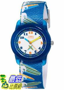[美國直購 ShopUSA] Timex 手錶 Children's Kids T7B888 Blue Nylon Analog Quartz Watch with White Dial
