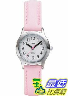 [美國直購 ShopUSA] Timex 手錶 Children's T79081 Pink Leather Quartz Watch with White Dial