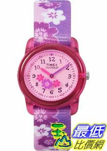 [美國直購 ShopUSA] Timex 手錶 Children's T7B011 Purple Cloth Quartz Watch with Pink Dial