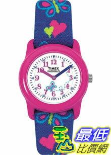 [美國直購 ShopUSA] Timex 手錶 Children's T89001 Blue Cloth Quartz Watch with White Dial