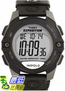 [美國直購 ShopUSA] Timex 手錶 Men's Expedition T40941 Black Nylon Quartz Watch with Digital Dial