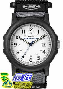 [美國直購 ShopUSA] Timex 手錶 Men's Expedition T49713 Black Nylon Quartz Watch with White Dial