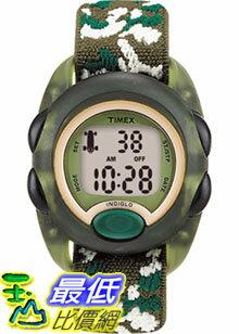 [美國直購 ShopUSA] Timex 手錶 Children's Kids T71912 Green Cloth Quartz Watch with Digital Dial