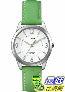 [美國直購 ShopUSA] Timex 中性男女通用錶  Weekender T2N862 Green Calf Skin Quartz Watch #1681884708