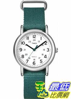 [美國直購 ShopUSA] Timex 中性男女通用錶  Weekender T2N915 Green Nylon Quartz Watch #1681885436
