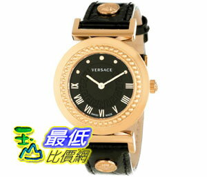 [美國直購禮品暢銷排行榜] Versace 手錶 Women's P5Q80D009 S009 Vanity Rose Gold Ion-Plated Stainless Steel Leather Band Watch $41499