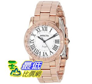 [美國直購禮品暢銷排行榜] Invicta 手錶 Women's 14375 Angel Silver Dial Diamond-Accented 18k Rose Watch