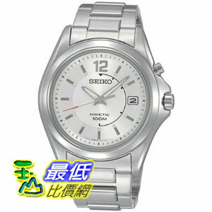 [美國直購 ShopUSA] Seiko 手錶 Men's SKA475P1 Silver Dial Kinetic Stainless Steel Watch $5459