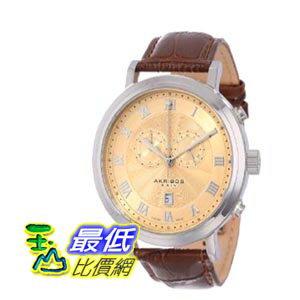 [103 美國直購 ShopUSA] Akribos Chronograph Gold Dial Stainless Steel 男士手錶 AK591SS $15039
