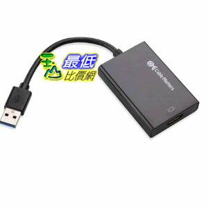 [103美國直購] Cable Matters SuperSpeed USB 3.0/2.0 to HDMI/DVI Adapter in Black 轉換器 $2088