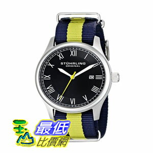 [美國直購] 男士手錶 Stuhrling Original Unisex 522.03 Gen X Liberty Stainless Steel Watch with Canvass Band $..