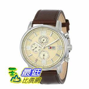 [103美國直購]男士手錶TommyHilfigerMen's1710337StainlessSteelWatchwithLeatherStrap$4134
