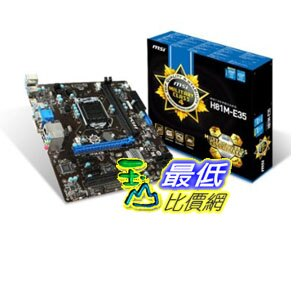 [103 美國直購 ShopUSA] MSI 主機板 LGA1150, Intel H81, SATA 6Gb/s, 1 PCI-E (1x16) and Micro-ATX Motherboard ..