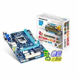 [103 美國直購 ShopUSA] Gigabyte 主機板 DDR3 1600 Intel - LGA 1155 B75 HDMI and DVI mATX Motherboard GA-B75M-HD3 $3308
