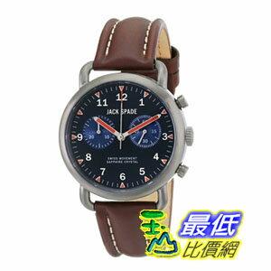 [美國直購] 男士手錶 Jack Spade Men's WURU0124 Norton Stainless Steel Watch with Brown Leather Band  $16915
