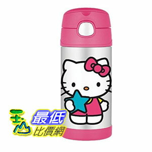 [103美國直購] Thermos 兒童保溫水壺 Funtainer Bottle, Hello Kitty - 12 oz F4014HK6M $850