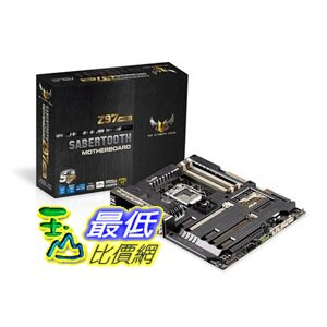 [103 美國直購] ASUS SABERTOOTH Z97 MARK1 ATX DDR3 2600 LGA 1150 SABERTOOTH Z97 MARK1 $10679