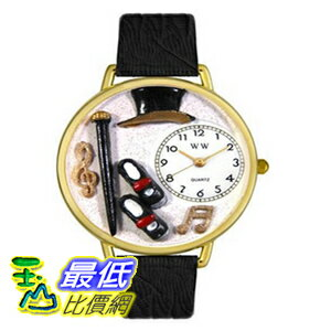 [美國直購 ShopUSA] Whimsical 手錶 Women's G0420007 Tap Dancing Black Skin Leather And Goldtone Watch $2089