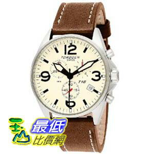 [美國直購 ShopUSA] Torgoen 手錶 Swiss Men's T16103 Aviation Beige Dial and Leather Strap Watch $19559