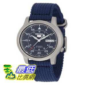 [美國直購 ShopUSA] Seiko 手錶 Men's SNK807 Seiko 5 Automatic Blue Canvas Strap Watch $2490