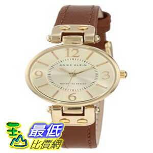 [美國直購 ShopUSA] Anne Klein 手錶 Women's 109442CHHY Gold-Tone Champagne Dial and Brown Leather Strap Watch $1879
