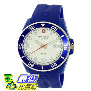 [美國直購 ShopUSA] Swiss Military Hanowa Men's Ranger 06-4200-23-001-03 Blue Plastic Quartz 手錶 with White Dial $4315