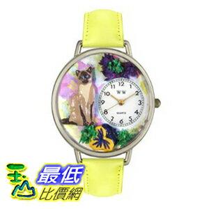 [美國直購 ShopUSA] Whimsical 手錶 Unisex U0120007 Siamese Cat Yellow Leather Watch $1957