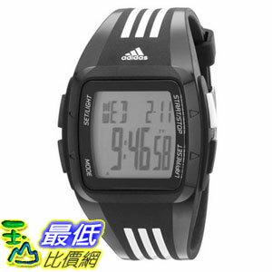 [104美國直購] adidas Unisex ADP6093 Digital Black Striped Watch 多功能方形電子錶 $2280