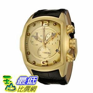 [104美國直購] 手錶 Invicta Men's 6731 Lupah Revolution Collection Chronograph Black Leather Watch