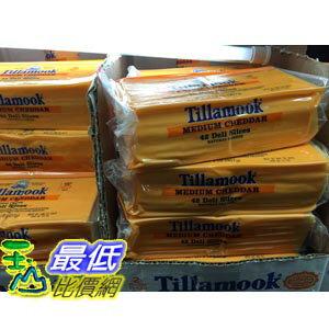 [104需低溫宅配] COSCO TILLAMOOK 中度熟成切達乾酪片 SLICED MEDIUM CHEDDAR 907G C67917
