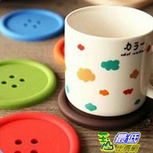 _a@[103玉山最低比價網] 家居 彩色 超大 鈕扣 造型 雙面 防滑 杯墊 隔熱墊 顏色隨機 (791954_LL21) $19