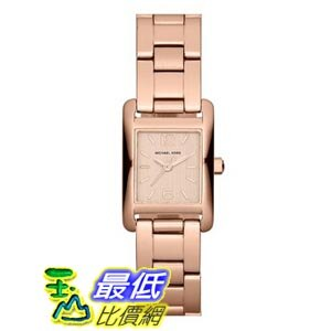 [103 美國直購] Michael Kors 手錶 Taylor Mini Rectangular Bracelet Watch Rose Gold, 20mm x 22mm $7759