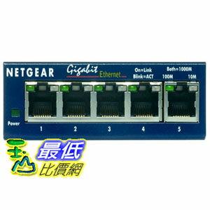 [美國直購 ShopUSA] NETGEAR 桌面交換機 GS105 ProSafe 5-Port Gigabit Ethernet Desktop Switch - 10/100/1000 Mbps..