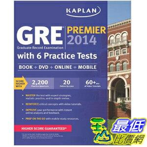 (2013 美國暢銷書榜單)Kaplan GRE Premier 2014 with 6 Practice Tests [Paperback] 1609789369 $1169