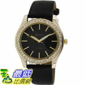 [美國直購 USAShop] Geneva Platinum 手錶 Women's Watch 9688.BLACK.GOLD _mr $999