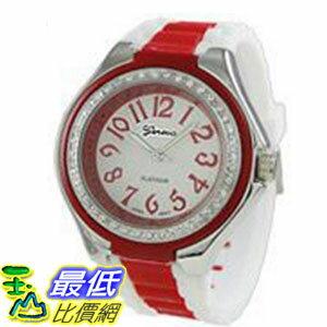[美國直購 USAShop] Geneva Platinum 手錶 Women's Watch 3201.White.Red _mr $999
