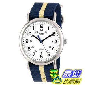 玉山最低比價網:[美國直購ShopUSA]Timex中性男女通用錶T2P1429JWeekenderWatchwithNavyandTanNylonStrap