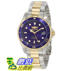 [美國直購 ShopUSA] Invicta Pro Diver Quartz Two-Tone 18k Gold 男士手錶 8935
