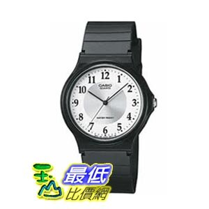 [美國直購 ShopUSA] Casio Silver Dial Black Resin 男士手錶 MQ-24-7B3LLEF bfy