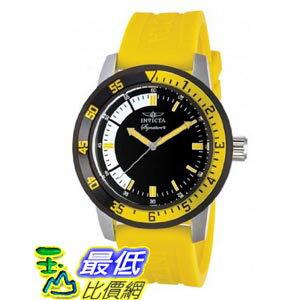 [美國直購 ShopUSA] Invicta Signature II Black and Yellow Rubber Strap Mens Watch 7467