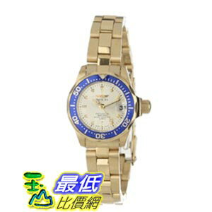 [美國直購 ShopUSA] Invicta 手錶 Pro Diver Light Champagne Dial Gold Ion-plated Ladies Watch 14126
