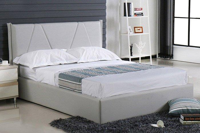 【尚品傢俱】JF-572-2  羅賓5尺灰白皮雙人床頭片(不含床底)