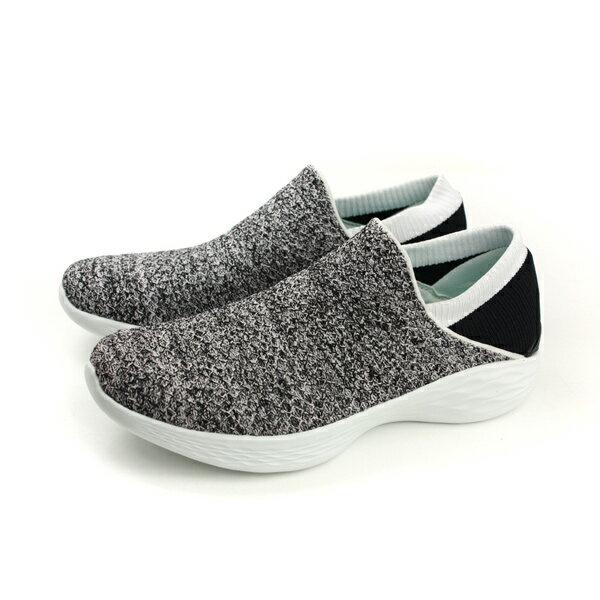 HUMAN PEACE:SKECHERSYOU運動鞋懶人鞋女鞋針織灰色14951WBKno743