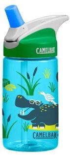【【蘋果戶外】】美國Camelbak兒童彈跳式吸管水瓶搖滾河馬400ml0.4L0.4公升登山水壺單車水壺