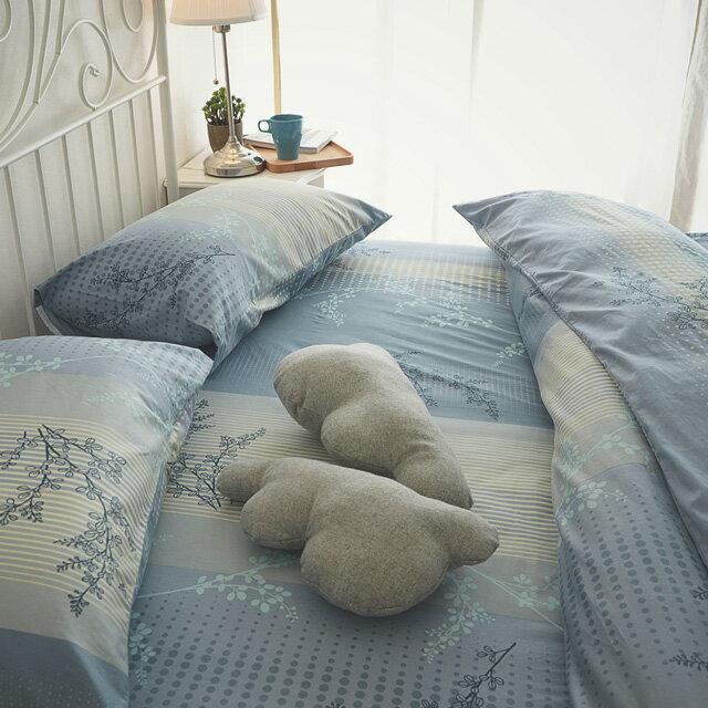 床包被套組 / 雙人【上野之森-夏風 】含兩件枕套四件組,精梳棉 / 台灣製 絲薇諾 1