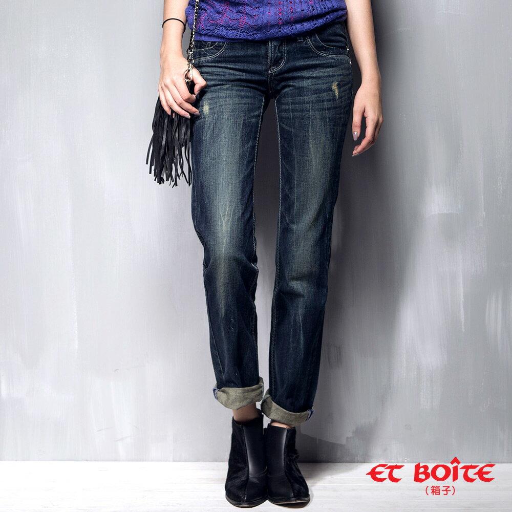 男友風刷色牛仔褲(2色) - BLUE WAY  ET BOiTE 箱子 6